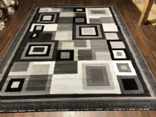 Modern Approx 9x7ft 270x220cm Woven Thick Rugs Sale Top Quality Black/Silver New